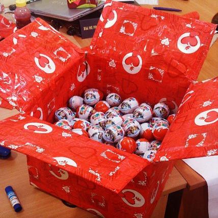 Киндеры сюрприз новогодние подарки