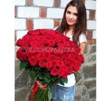 101 красная роза «Ред Наоми»