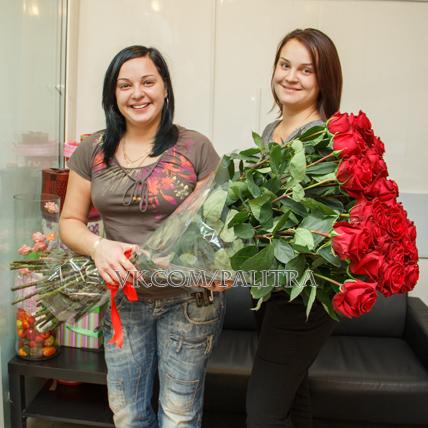 51 красная роза 150 см
