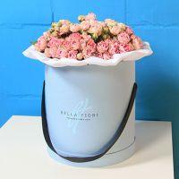 Кустовые розы «Сплеш сенсейшн» в стильной коробке