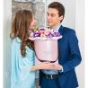 Цветы в коробке (лизиантусы)