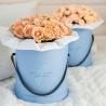 Розы «Капуччино» в стильной шляпной коробке
