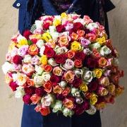 201 роза разноцветная (40 см)