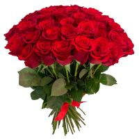 51 красная роза по акции (40 см)