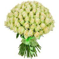 101 роза белая (40 см)