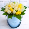 Коробка мини с тюльпанами