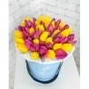 Коробка малая с тюльпанами