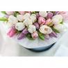 Нежное сочетание тюльпанов в коробке