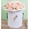 Коробка Royal с пионовидными розами «Бомбастик»