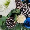 Новогодний букет «Снежная королева»