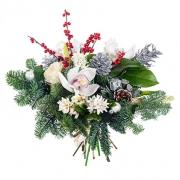 Новогодний букет «Зимний рассвет»