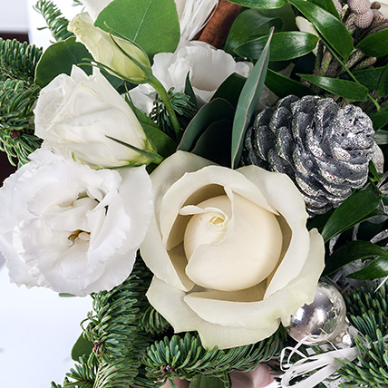 Новогодний букет «Морозное утро»