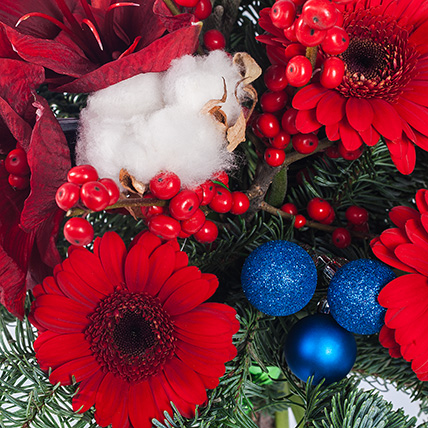 Новогодний букет «Теплая зима»