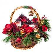 Новогодняя композиция «Ягодный шейк»