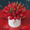 Красные тюльпаны в коробке Baby