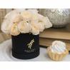 Пионовидные розы кремовые в коробке Baby