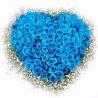 Сердце из 101 синей розы