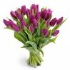 25 тюльпанов сиреневых