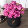 Фиолетовые пионовидные розы в коробке Small