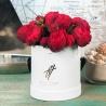 Пионовидные розы «Ред пиано» в коробке Small