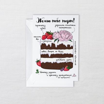 Открытка «Торт»