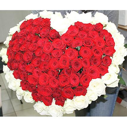 Букет-сердце из 101 розы