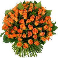 101 оранжевая роза (40 см)