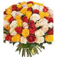 101 роза микс (40 см)