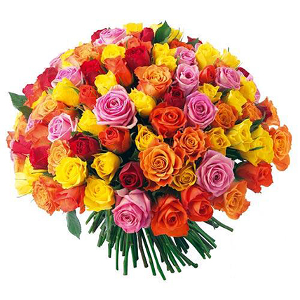 151 роза микс (40 см)
