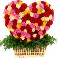 Сердце 3D из 251 розы