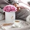 Розовые пионы в белой коробке Small