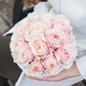 Пионовидные розы Остина «Кейра» в белой коробке Small