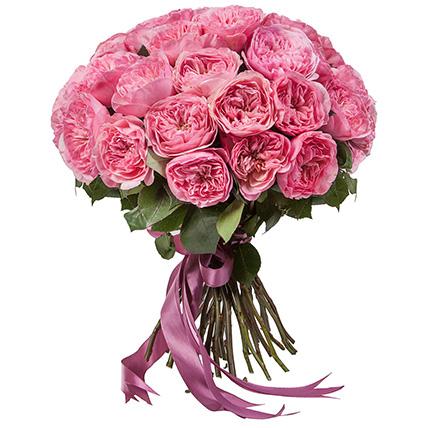 Букет крупных пионовидных роз «Мария Терезия»