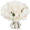 Букет белых пионовидных роз «Принцесса в платье»