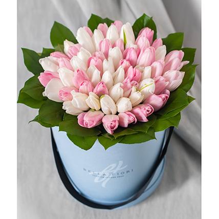 Коробка с тюльпанами №6