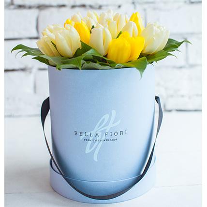 Коробка с тюльпанами №11