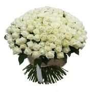 201 белая роза (40 см)