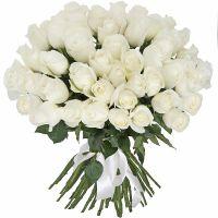 51 белая роза (40 см)