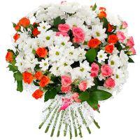 Букет хризантем «Долгожданная встреча»