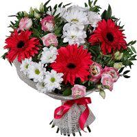 Букет хризантем «Весенние ночи»