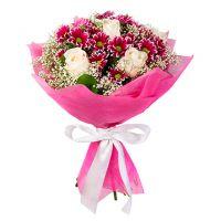 Букет хризантем «Полдень»