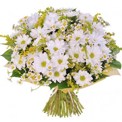 Букет хризантем «Свежий ветер»