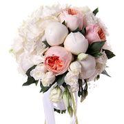 Букет с пионовидными розами и пионами №4