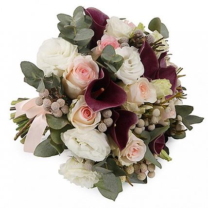 Букет с каллами и розами №1