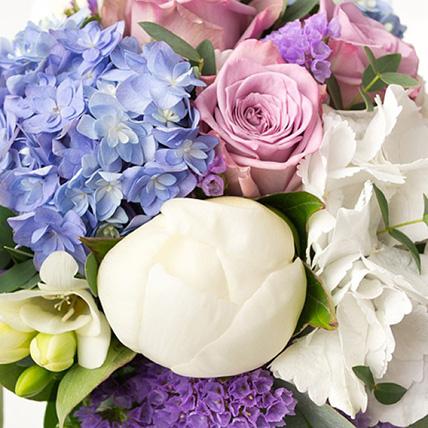 Свадебный букет невесты из гортензии и роз №8