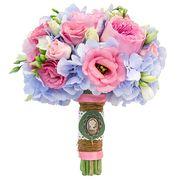 Свадебный букет невесты с пионовидными розами и гортензией №12