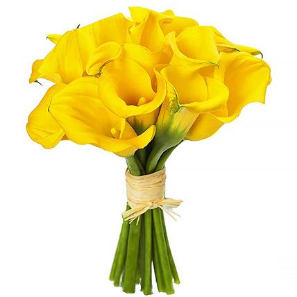 Букет из желтых калл №29