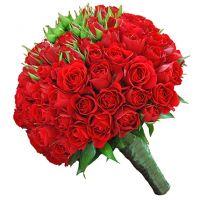 Свадебный букет невесты из кустовых роз №32