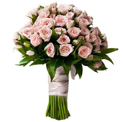 Букет из кремовых кустовых роз №39