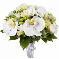 Букет из фрезии и орхидеи №45